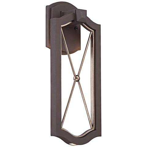 "Eastborne LED 17 1/4"" High Sand Bronze Outdoor Wall Light"