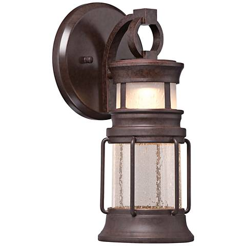"Garretson Pointe LED 12 1/4""H 2-Glass Outdoor Wall Light"