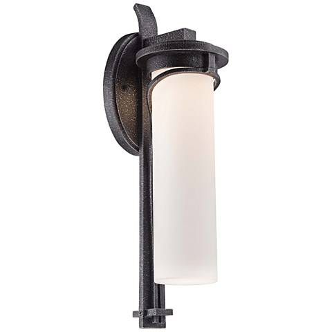 "Hollbrook 18"" High Stone Silver LED Outdoor Wall Light"