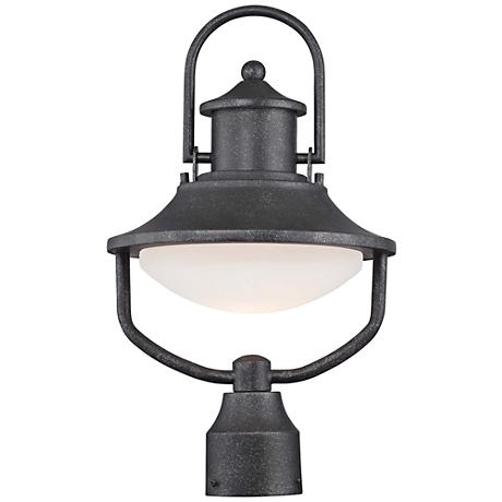 """Crest Ridge 17"""" High Forged Silver LED Outdoor Post Light"""