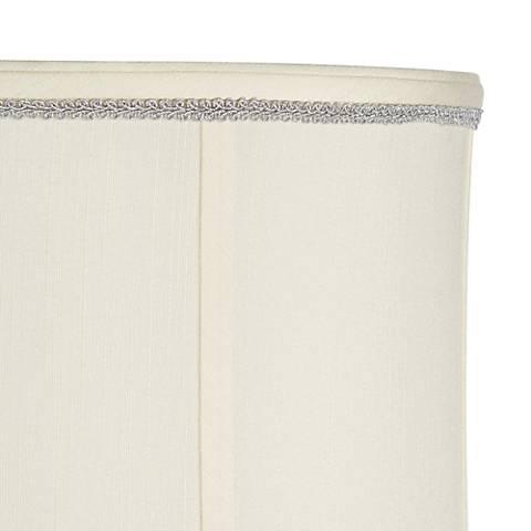 Silver Scroll Metallic Thread Lamp Shade Trim - 3 Yards
