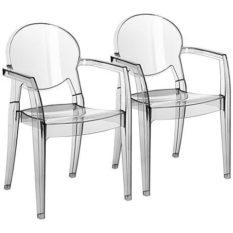 Colico Smoke Indoor-Outdoor Armchair Set of 2