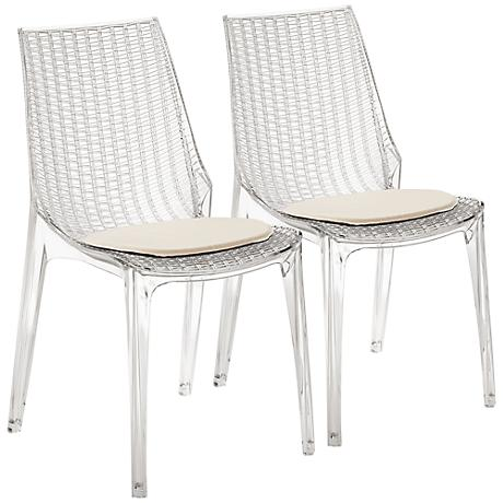 Messina Clear Indoor-Outdoor Side Chair Set of 2