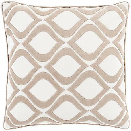 "Surya Seraphina Neutral 18"" Square Throw Pillow"