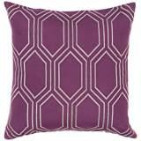 """Surya Skyline Diamond Purple 18"""" Square Throw Pillow"""