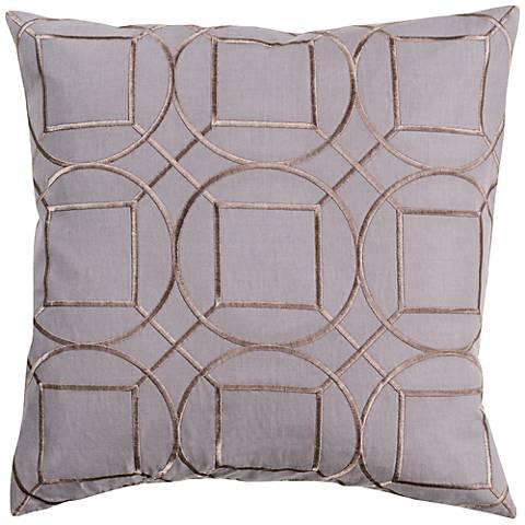 "Surya Skyline Geo Charcoal Gray 18"" Square Throw Pillow"