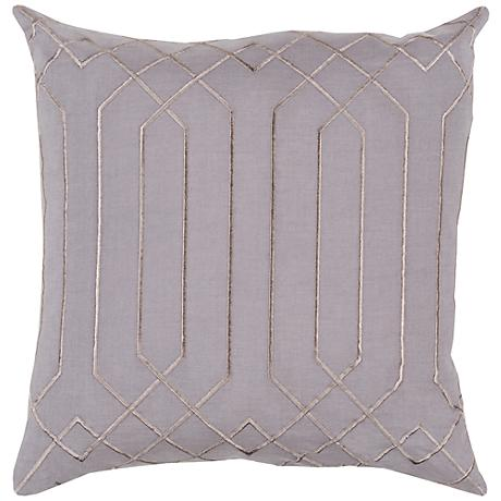 "Surya Skyline Pillar Charcoal Gray 18"" Square Throw Pillow"