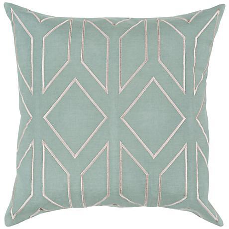 "Surya Skyline Arrow Moss Green 18"" Square Throw Pillow"