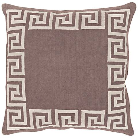 """Surya Keeper of the Keys Gray 18"""" Square Throw Pillow"""