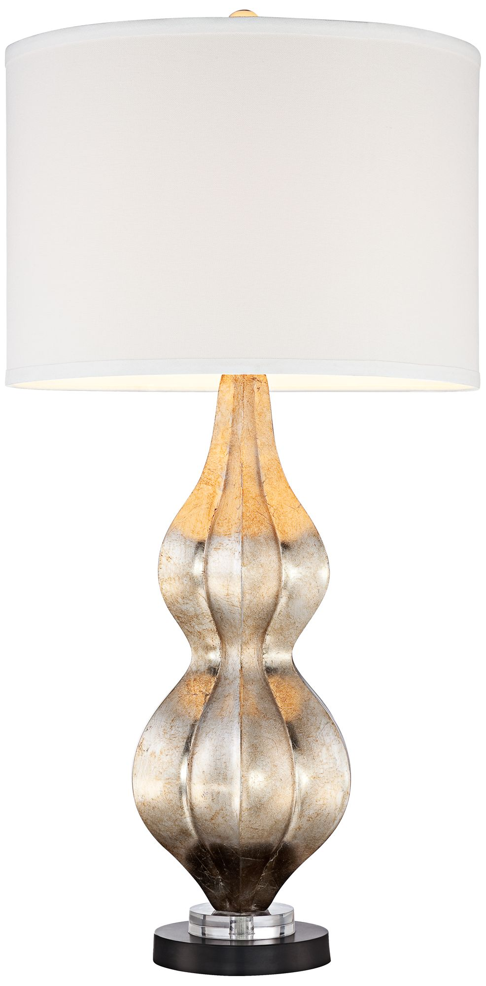 Nolan Silver Leaf Double Gourd Table Lamp