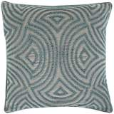 "Surya Linen and Beads Dark Gray 18"" Square Throw Pillow"