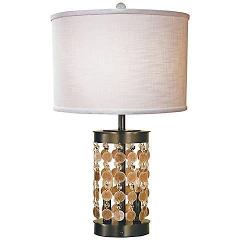 Thumprints Naomi Mahogany Bronze Table Lamp