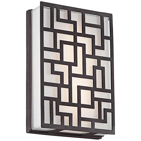 """George Kovacs Alecia's Necklace 9""""H LED Outdoor Wall Light"""