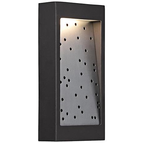 "George Kovacs Pinball 10""H LED Bronze Outdoor Wall Light"