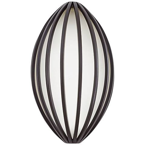 "George Kovacs Corduroy 10""H Bronze LED Outdoor Wall Light"
