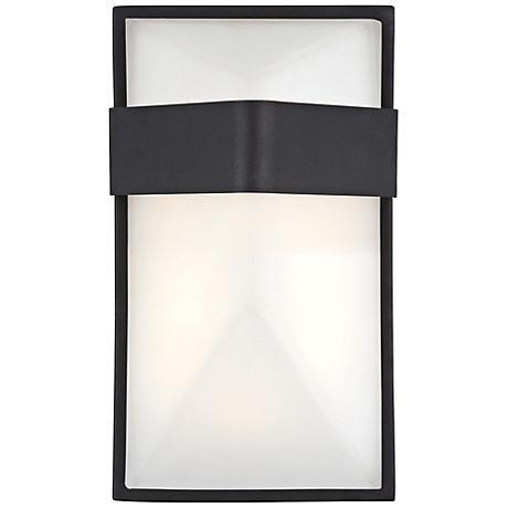 "George Kovacs Wedge 9"" High LED Black Outdoor Wall Light"