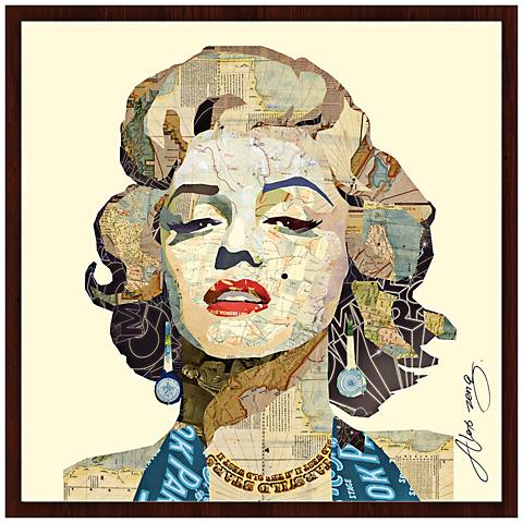 """Homage to Marilyn 26"""" Wide Framed Wall Art"""