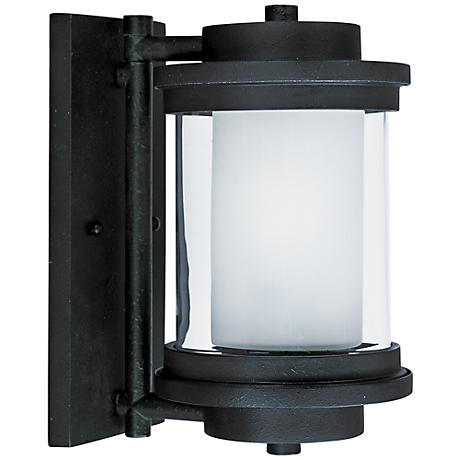 """Maxim Lighthouse 10 1/4""""H Anthracite Outdoor Wall Light"""