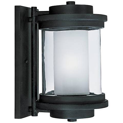 "Maxim Lighthouse 13"" High Anthracite Outdoor Wall Light"