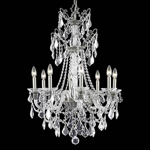 """Imperial 25"""" Wide Pewter 8-Light Chandelier"""