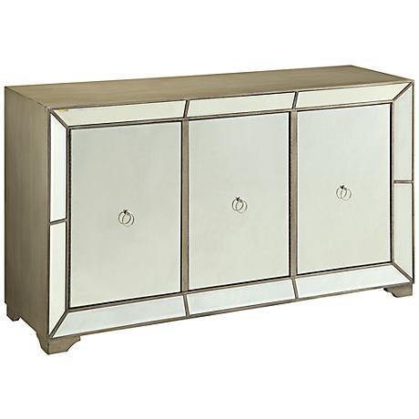 Madison 3-Door Mirrored Buffet Cabinet