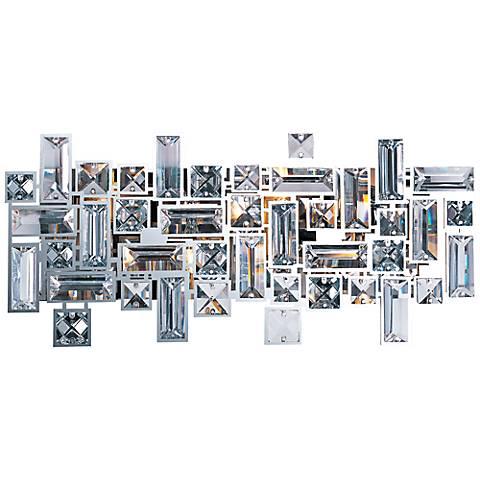 "Maxim Paradigm 17 3/4"" Wide Abstract Crystal Bath Light"