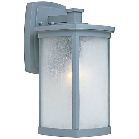 "Maxim Terrace 13 3/4"" High Platinum Outdoor Wall Light"