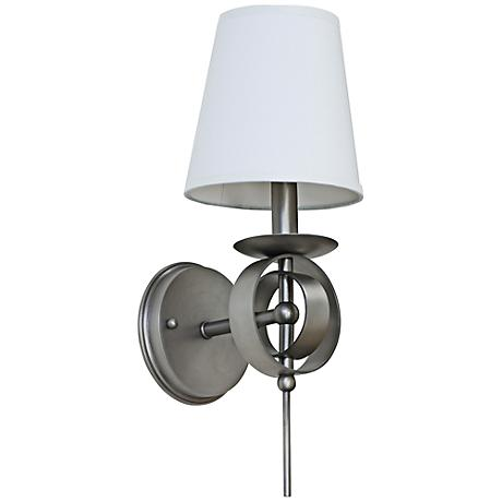 """Lake Shore Compass 17"""" High Satin Pewter Wall Sconce"""