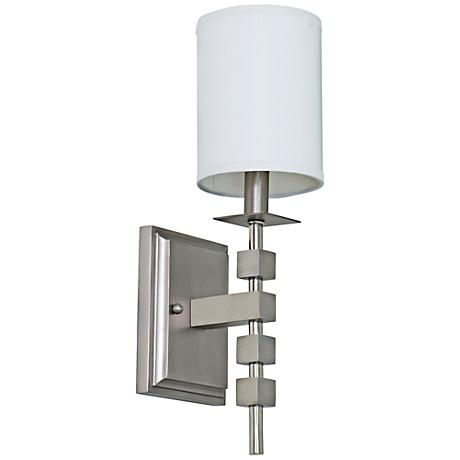 "Lake Shore Blocks 15"" High Satin Pewter Wall Sconce"