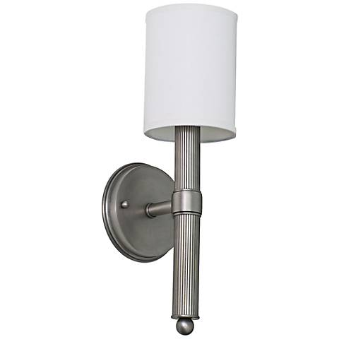 "Lake Shore Torch 16"" High Satin Pewter Wall Sconce"