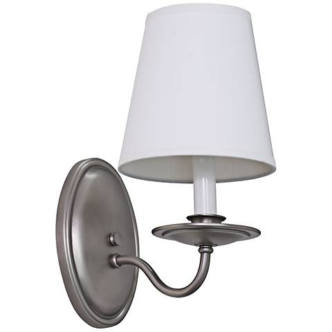 "Lake Shore Curved 11 1/2"" High Satin Pewter Wall Sconce"