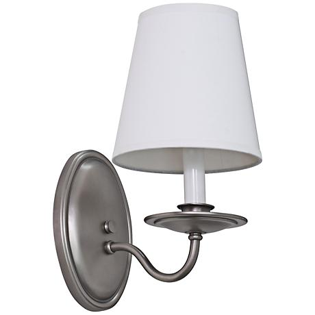 """Lake Shore Curved 11 1/2"""" High Satin Pewter Wall Sconce"""