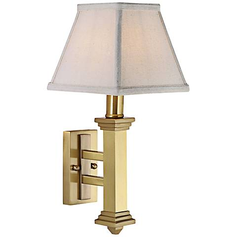 "House of Troy Arrow 13 3/4"" High Satin Brass Wall Sconce"
