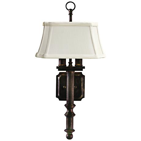 """House of Troy 2-Light 19"""" High Copper Bronze Wall Sconce"""