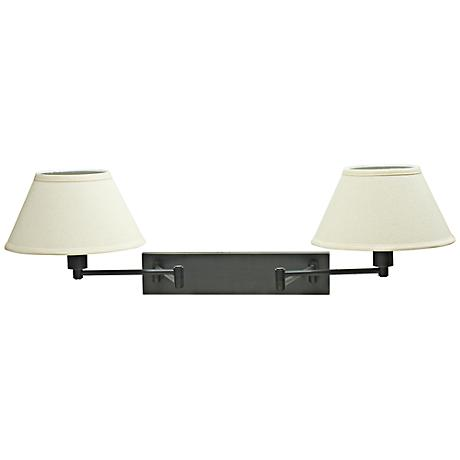 house of troy double oil rubbed bronze swing arm wall lamp. Black Bedroom Furniture Sets. Home Design Ideas