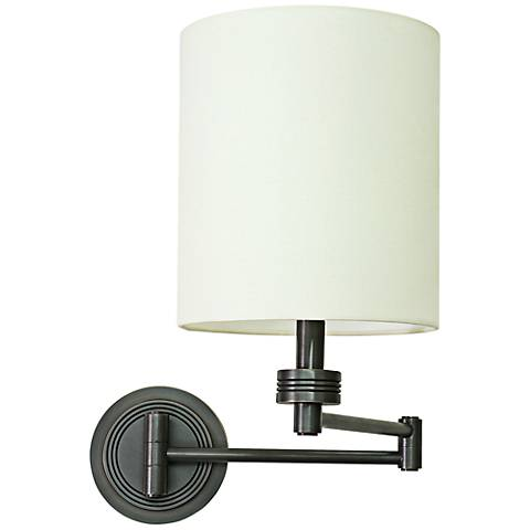 House of Troy Ribbed Oil Rubbed Bronze Swing Arm Wall Lamp