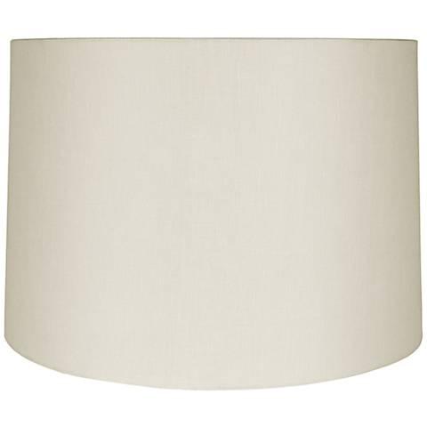 Eggshell Linen Round Drum Shade 13x14x10 (Spider)