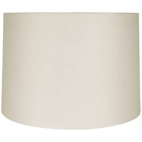 Eggshell Linen Round Drum Shade 15x16x10 (Spider)