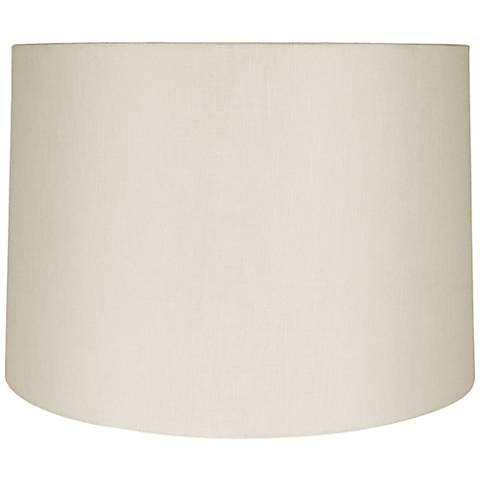 Eggshell Linen Round Drum Shade 19x20x13 (Spider)
