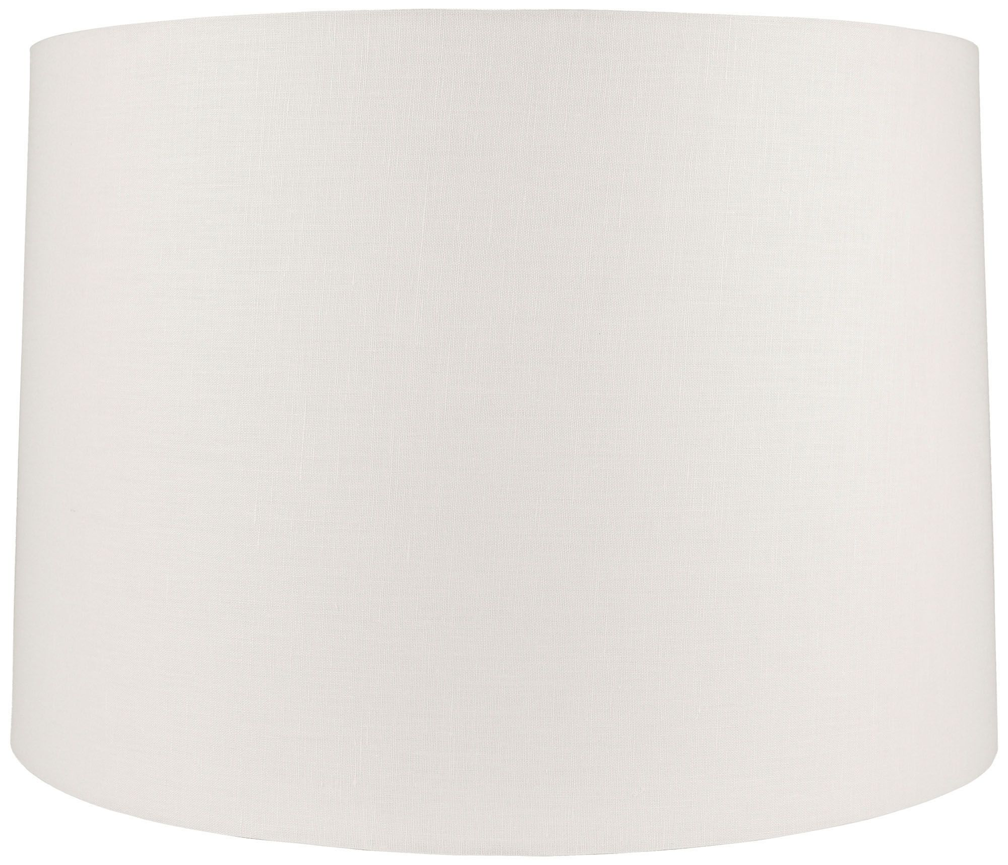 offwhite linen round drum shade 17x18x12 spider - Drum Shade