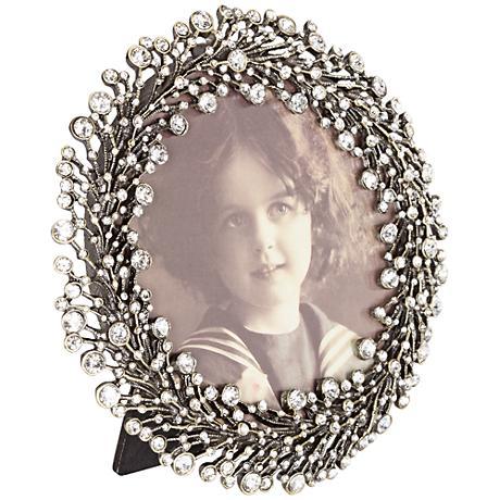 Simone Silver Jeweled Photo Frame