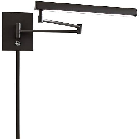 George Kovacs Madake Dorian Bronze LED Swing Arm Wall Lamp