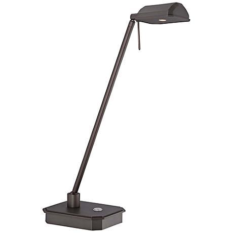 George Kovacs Ashton Bronze Patina LED Desk Lamp
