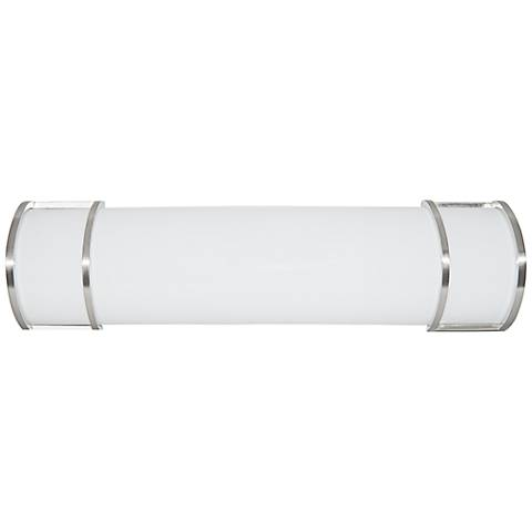 "Victore White 24"" Wide Brushed Nickel LED Bath Light"