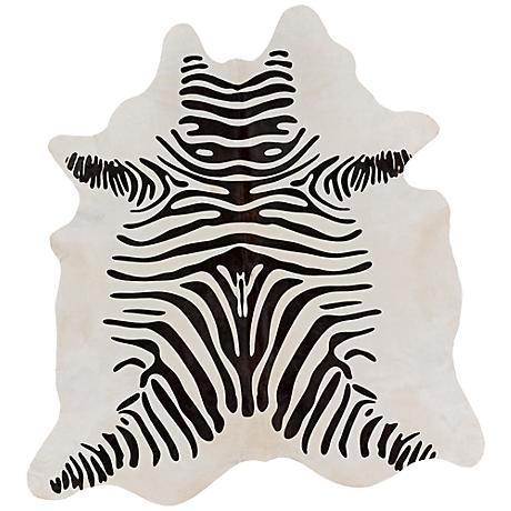 Surya Tivona Zebra Print 8'x8' Area Rug