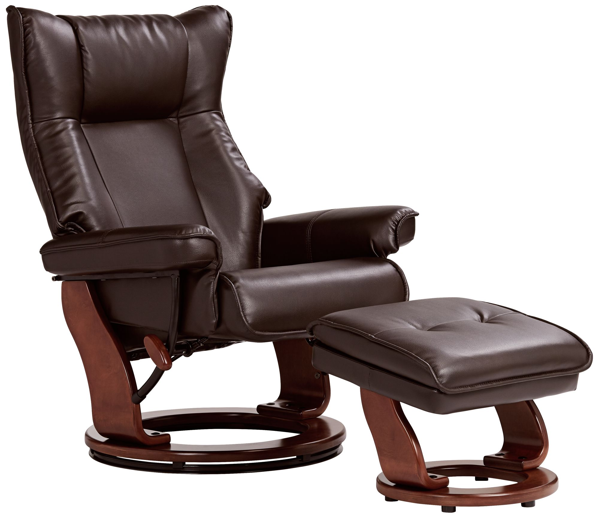 Morgan Java Faux Leather Ottoman and Swiveling Recliner  sc 1 st  L&s Plus & Recliners - New Recliner Chairs | Lamps Plus islam-shia.org