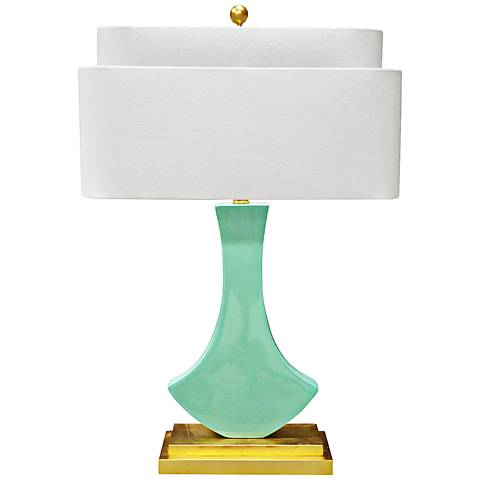 Couture Bellaria Mint Green Modern Table Lamp