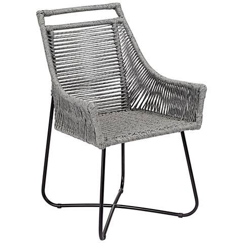 Jalagopal Gray Coastal Style Dining Armchair