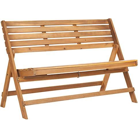 Luca Teak Wood Folding Bench