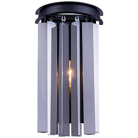 "Sydney 14"" High Polished Nickel Crystal Wall Sconce"